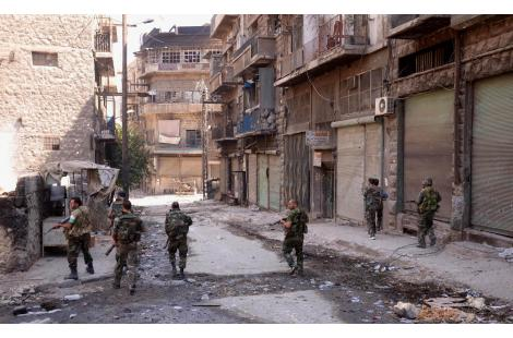 A handout picture released by the Syrian Arab News Agency (SANA) on September 24, 2012 shows...